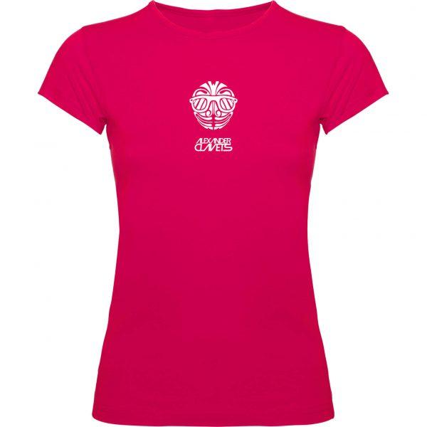 Camiseta Clavets fucsia mujer