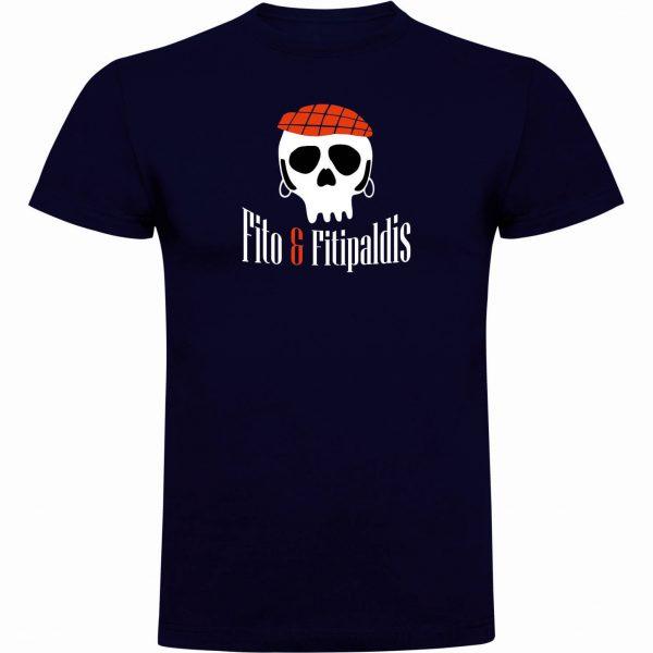 Camisetas divertidas Fito y Fitipaldis azul navy