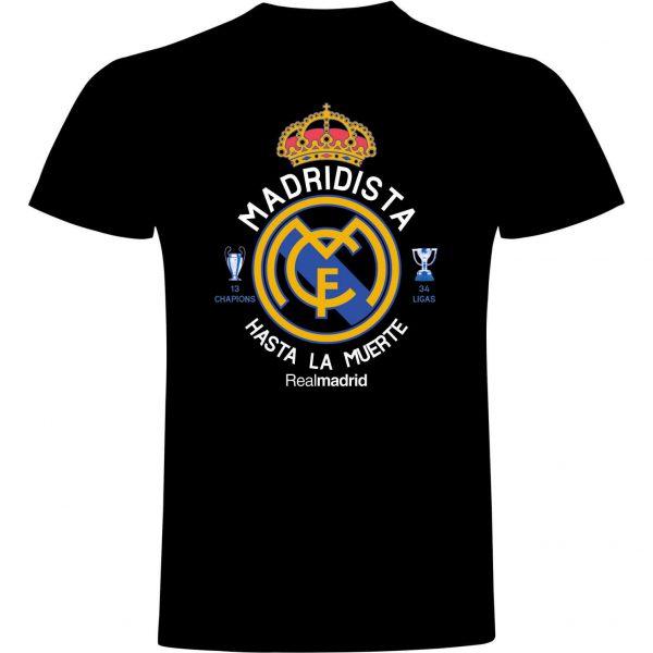 Camiseta madridista hasta la muerte negra
