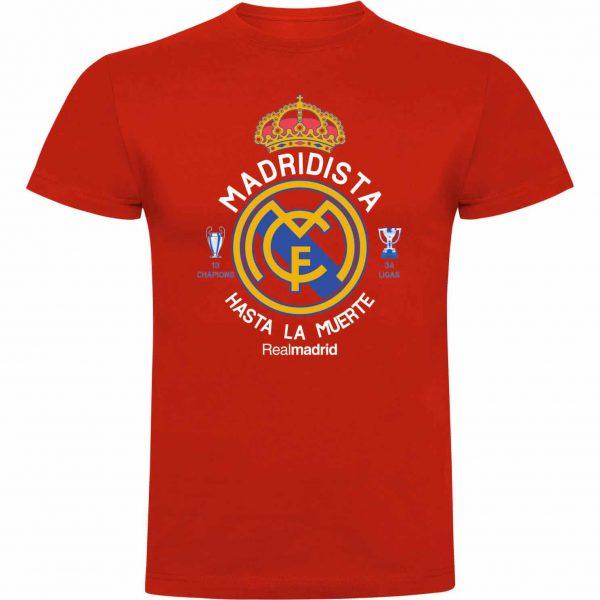 Camiseta madridista hasta la muerte roja
