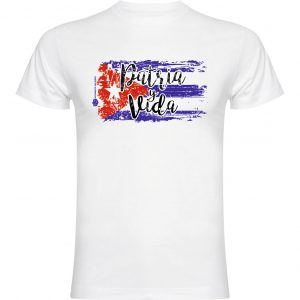 Camiseta blanca patria y vida cuba