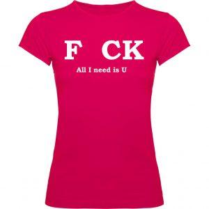 Camiseta F*ck fucsia