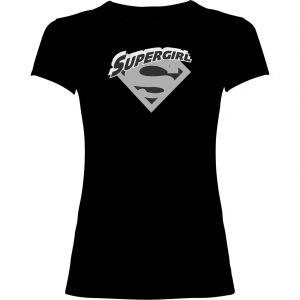 Camisetas Supergirl negra