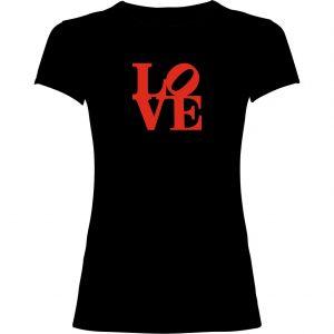Camiseta mujer Love negra