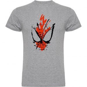Camiseta la marca de spiderman gris