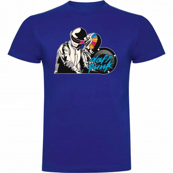 Camiseta divertida Daft Punk azul royal