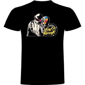 Camiseta divertida Daft Punk negra