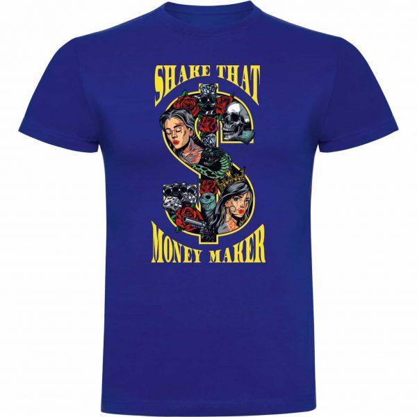 Camiseta divertida shake that money maker color azul royal