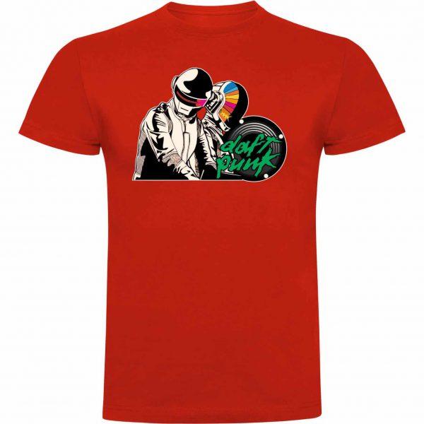 Camiseta divertida Daft Punk roja
