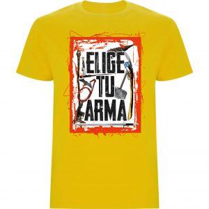 Camiseta hombre Elige tu arma amarillo