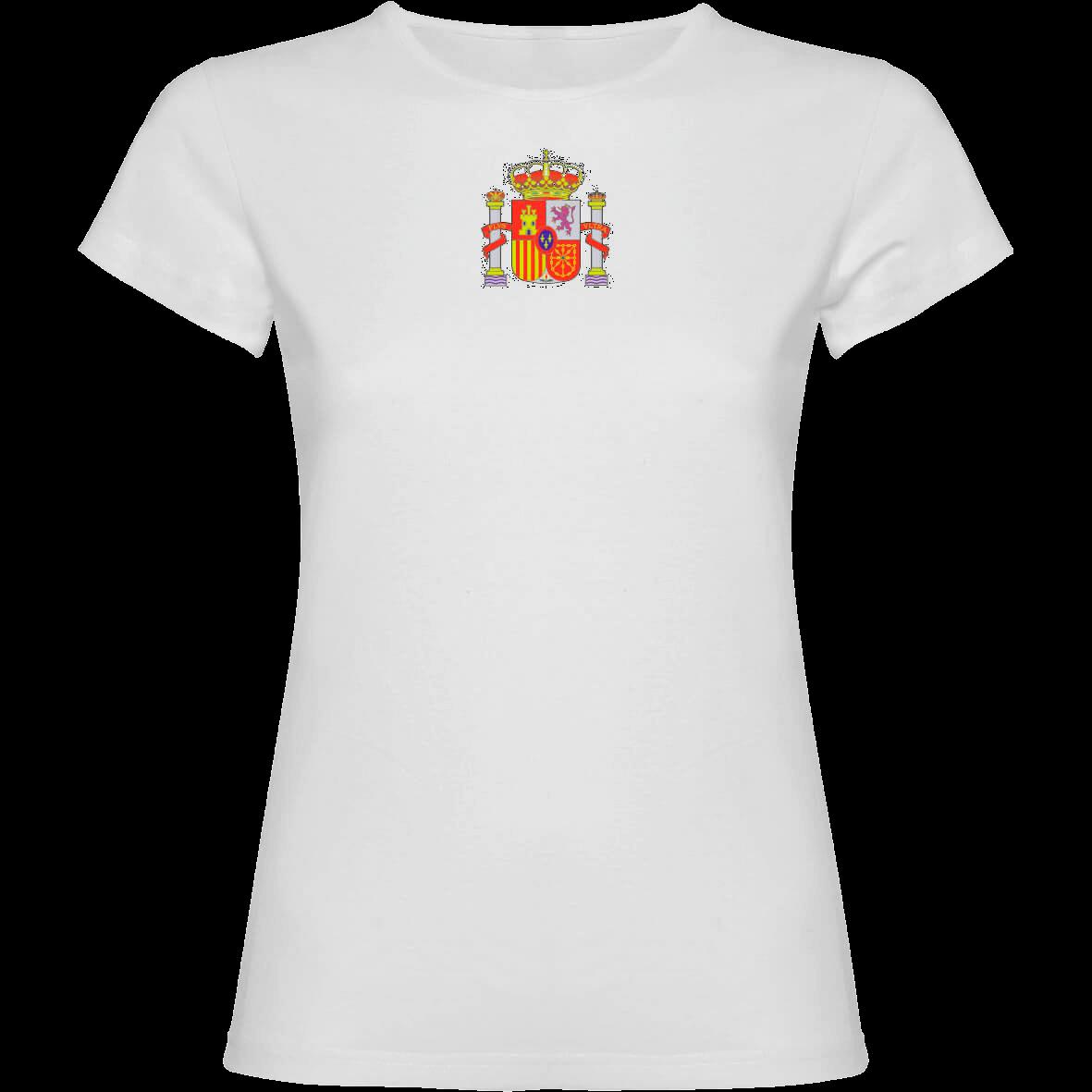 Camiseta España MUJER 2 caras TRASERA BLANCA