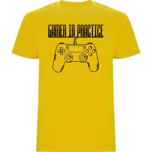 Camiseta niño Gamer in practice amarillo