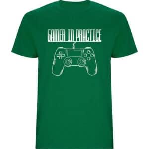 Camiseta Gamer in practice verde hierba