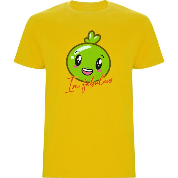 Camiseta Im fabulous niño amarillo
