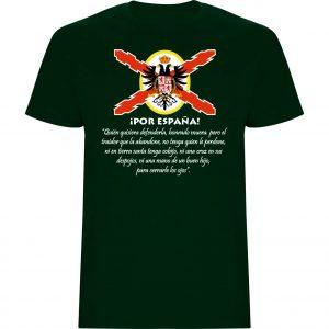 Camiseta hombre JURAMENTO DE ACUÑA verde botella