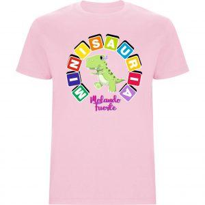 Camiseta niña Minisauria rosa