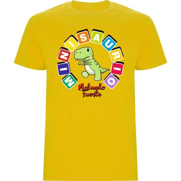 Camiseta MINISAURIO amarillo