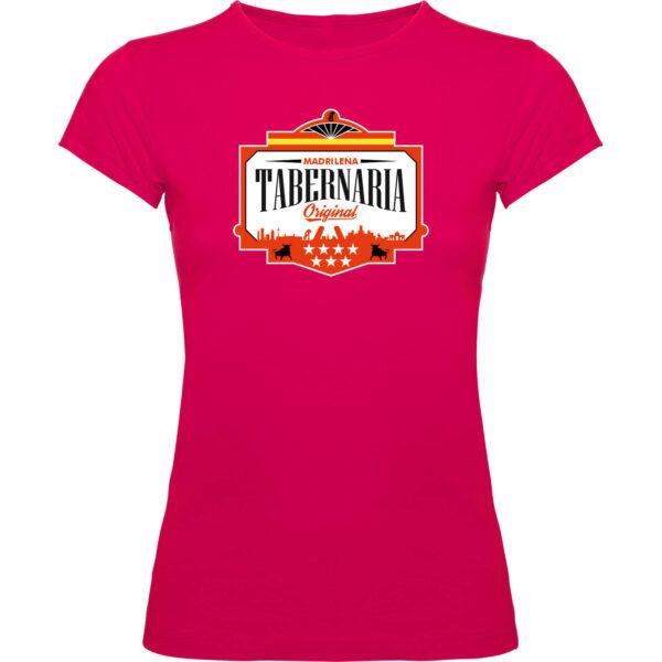 Camiseta fucsia mujer tabernaria
