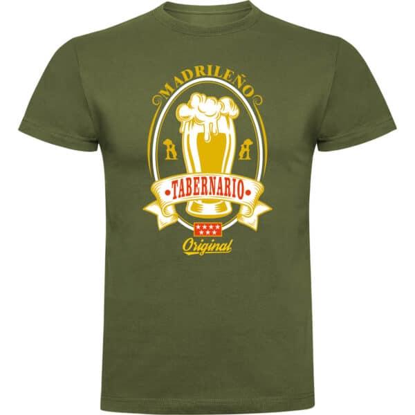 Camiseta madrileño tabernario verde oliva