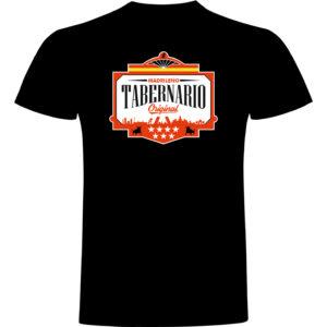 Camiseta tabernario negra hombre