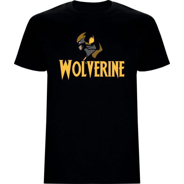 Camiseta niño Wolverine anime negra