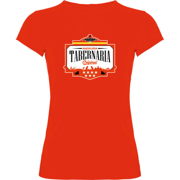 Camiseta roja mujer tabernaria1