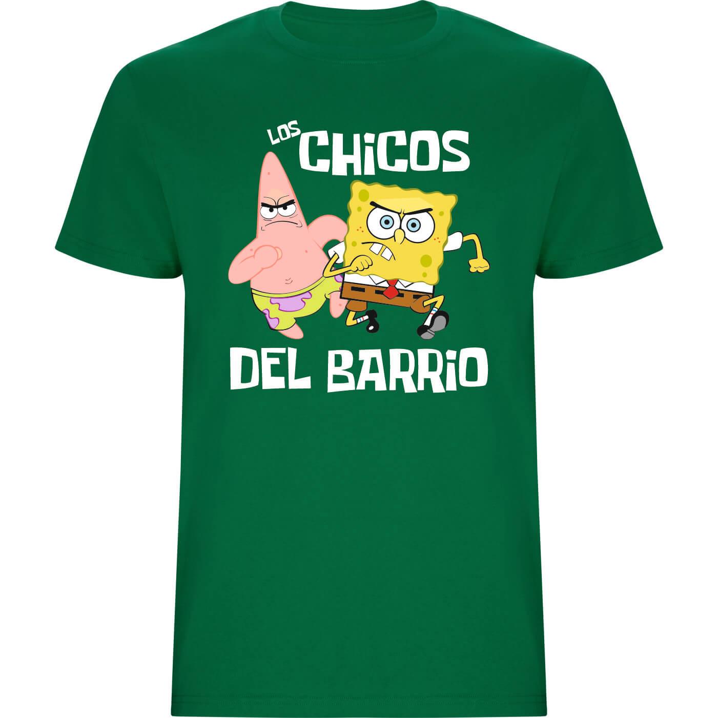 Los chicos del barrio camiseta de niño verde grass