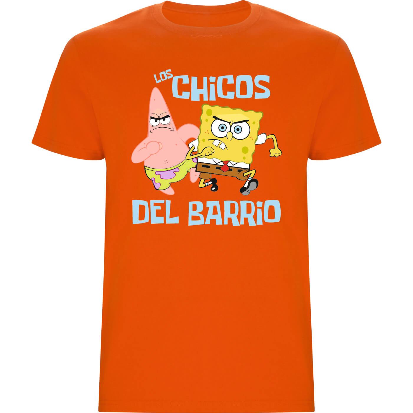 Los chicos del barrio camiseta de niño verde naranja