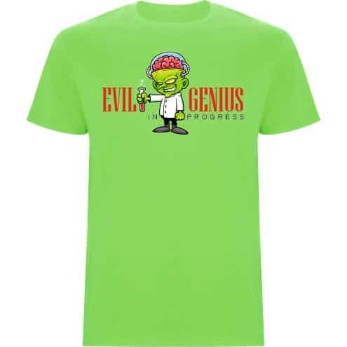 Camiseta niño evil genius verde oasis