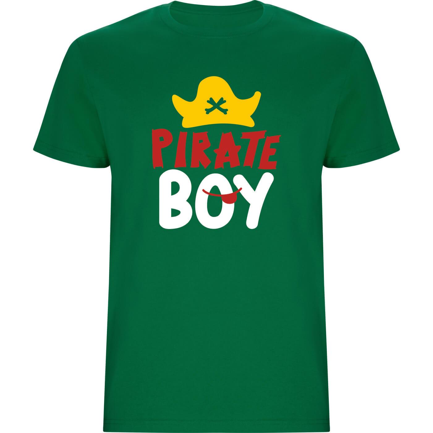 Camiseta de niño pirate boy verde grass