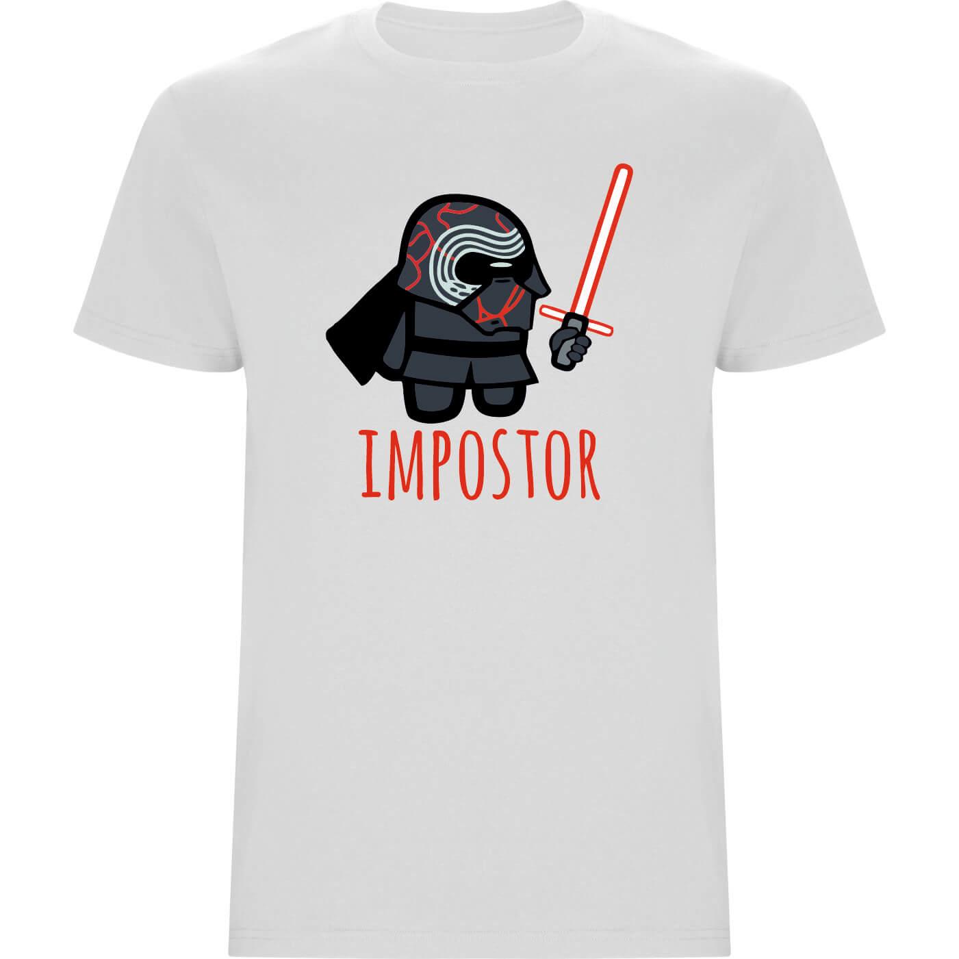 Camiseta niño KYLO REN impostor blanco