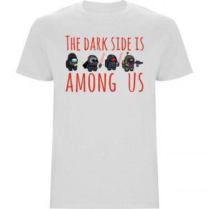 Camiseta the dark side is among us verde blanca